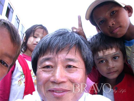 ▲타나카를 바른 미얀마 아이들( 사진= 변용도 동년기자)
