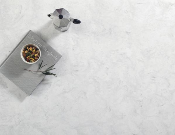 ▲LG하우시스_인조대리석 신제품 '하이막스 오로라 컬렉션'의 오로라 비앙코 제품(사진제공=LG하우시스)