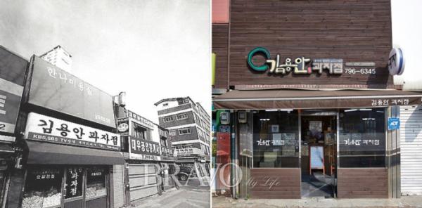 ▲'김용안 과자점' 과거와 현재(오병돈 프리랜서 obdlife@gmail.com)