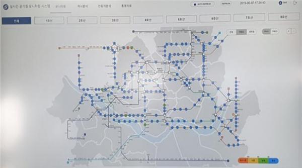 ▲공기질 실시간 감시 시스템(사진 = 서울교통공사)