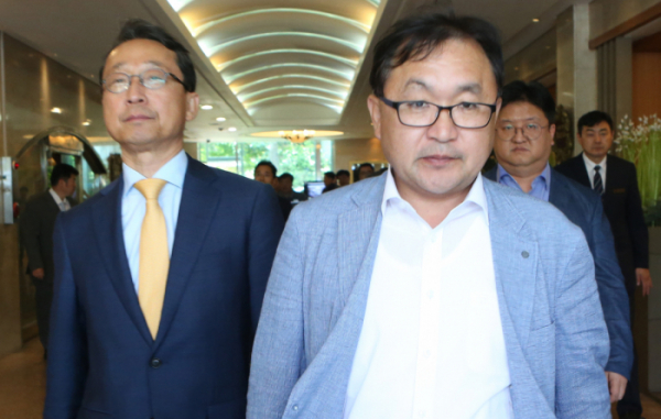 ▲거제 떠나는 현대중공업 실사단(연합뉴스)