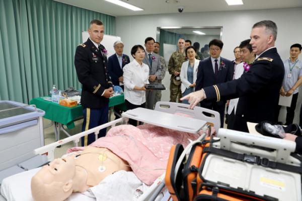▲한림대학교의료원 동탄시뮬레이션센터 개소(한림대학교동탄성심병원)