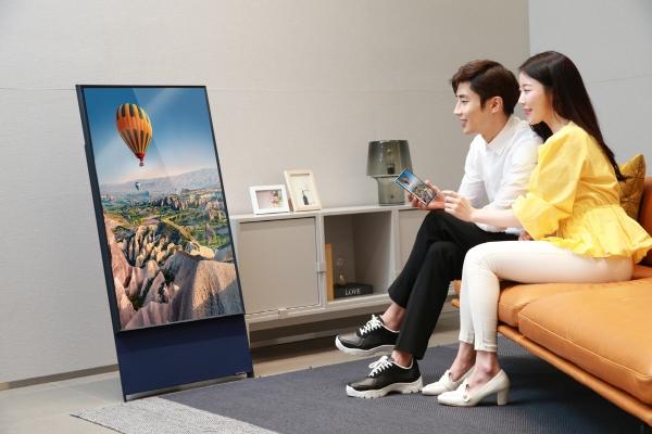 ▲삼성전자 라이프스타일 TV '더 세로' 사진제공 삼성전자