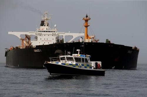 ▲지난 4일 영국령 지브롤터 당국이 대 시리아 제재를 위반한 혐의로 이란 유조선 그레이스 1호를 나포했다. 로이터연합뉴스