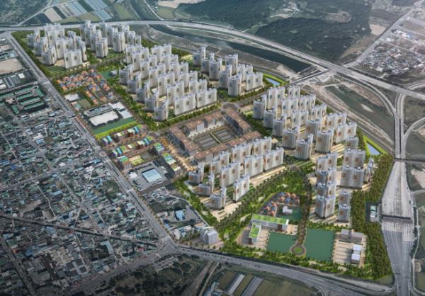 ▲부영그룹이 6500여 가구 규모 아파트 단지를 건립하게 될 광양목성지구 조감도(사진=부영그룹)