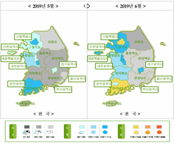 ▲주택매매시장 소비심리지수(전국)(자료=국토연구원)