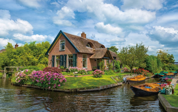 ▲네덜란드의 베니스라 불리는 히트호른의 아름다운 전경.