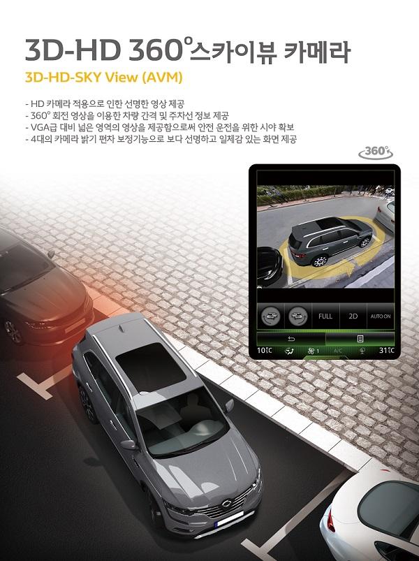▲켐트로닉스 스카이뷰 '사각제로 드라이빙' QM6 탑재 (사진제공=켐트로닉스)