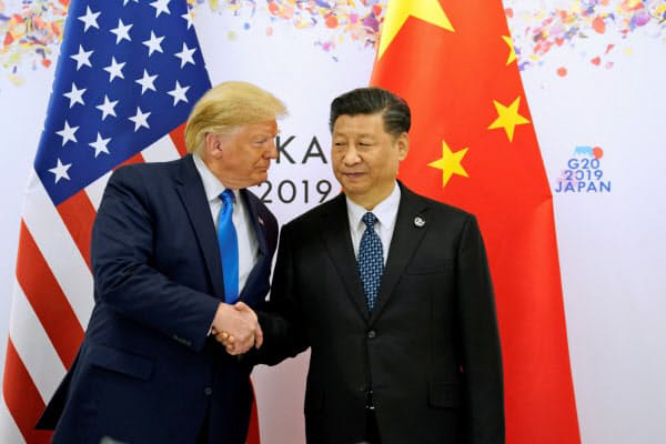 ▲2019년 6월 일본 오사카에서 열린 G20 정상회의에서 만난 도널드 트럼프 미국 대통령과 시진핑 중국 국가주석. 로이터연합뉴스