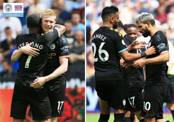 ▲넥센타이어가 10일 개막한 영국 프리미어리그 2019/20 시즌에도 멘체스터 시티 FC 공식 후원을 이어간다. (사진제공=넥센타이어)