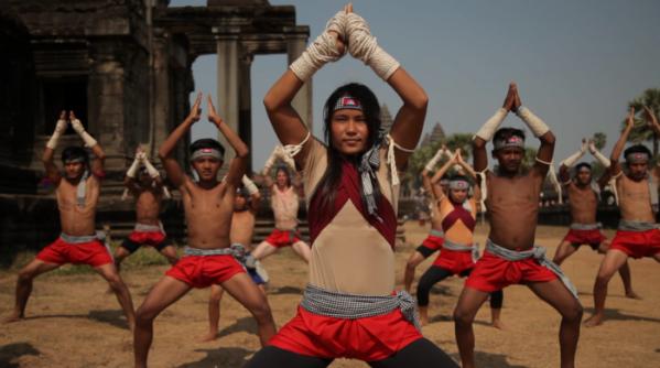 ▲개막작으로 선정된 '생존의 역사: 보카토어'. 이미 멸한 캄보디아의 전통 무술 '보카토어'를 재발굴, 복원하는 과정을 그렸다.(사진제공=충북국제무예액션영화제)