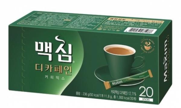 ▲동서식품 맥심 디카페인 커피믹스(동서식품)