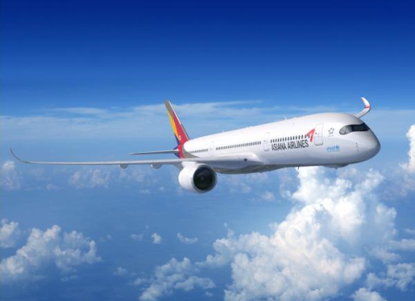 ▲아시아나항공 A350 항공기(사진제공=아시아나항공)