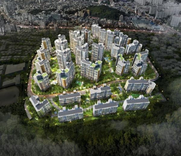 ▲'녹번역 e편한세상 캐슬' 2차 아파트 조감도.(대림산업 제공)