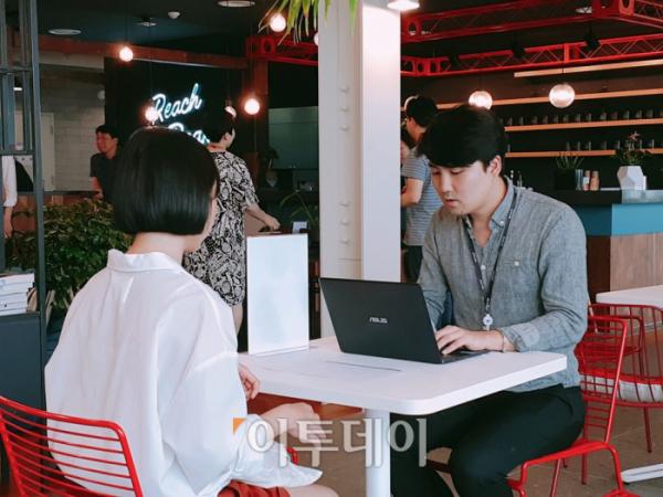 ▲현재 김 씨는 방학 기간을 이용해 한 스타트업에서 인턴으로 근무 중이다. (홍인석 기자 mystic@)