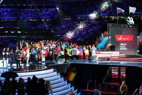 ▲제45회 국제기능올림픽대회 폐회식. (고용노동부)