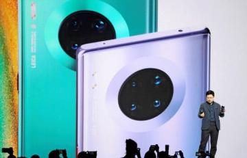 ▲화웨이가 19일 독일 뮌헨에서 발표한 신형 스마트폰 '메이트30'. 로이터연합뉴스