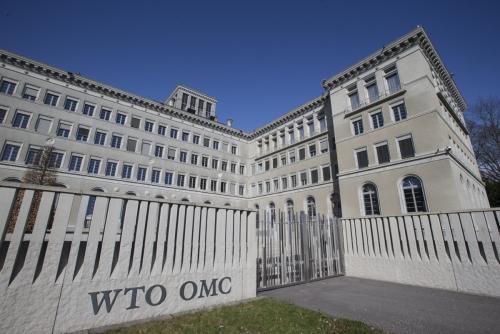 ▲스위스 제네바에 있는 세계무역기구(WTO) 본부. (제네바/신화뉴시스)