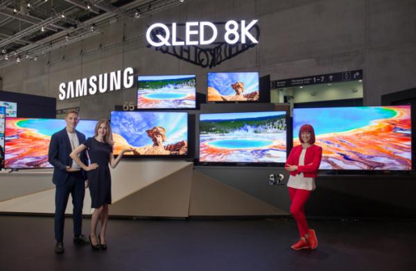 ▲삼성의 'QLED 8K' TV 풀 라인업  (사진제공=삼성전자)