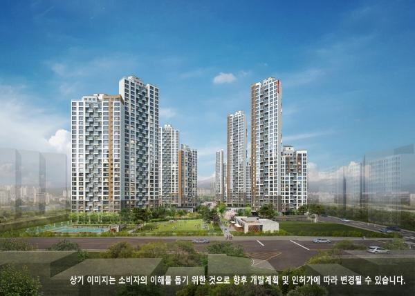 ▲'역삼 센트럴 아이파크' 아파트 투시도.(자료제공=HDC현대산업개발)