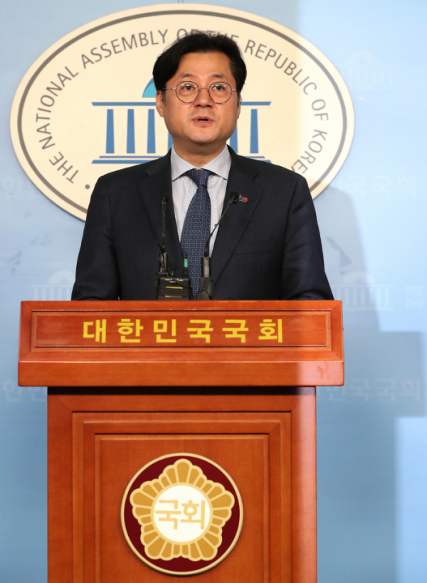 ▲더불어민주당 홍익표 수석대변인(연합뉴스)