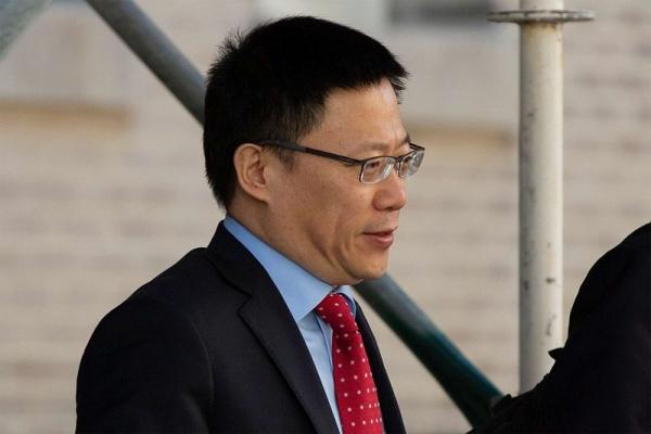 ▲미중 실무급 무역협상을 위해 19일(현지시간) 미국 워싱턴에 도착한 중국 랴오민 재정부차관. AFP연합뉴스