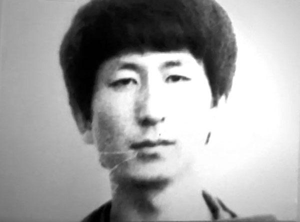 ▲재소자 신분카드에 부착된 이춘재의 사진.(출처=JTBC 방송 캡처)