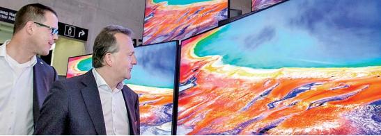 ▲지난달 독이 베를린에서 열린 IFA2019에 전시된 삼성 QLED TV(사진제공=삼성전자)