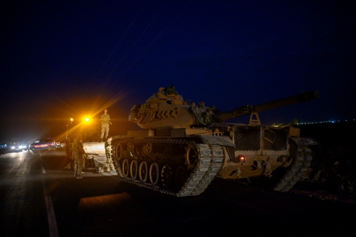 ▲9일(현지시간) 터키군이 국경을 넘으면서 군사작전에 들어갔다. AFP연합뉴스