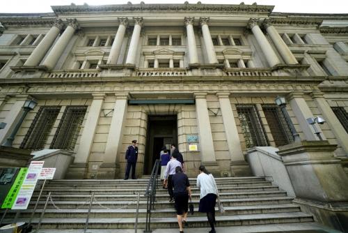 ▲일본 도쿄에 있는 일본은행(BOJ) 본청. 도쿄/AP뉴시스