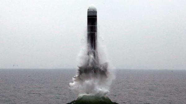 ▲북한이 시험발사한 북극성 3형 미사일(연합뉴스)
