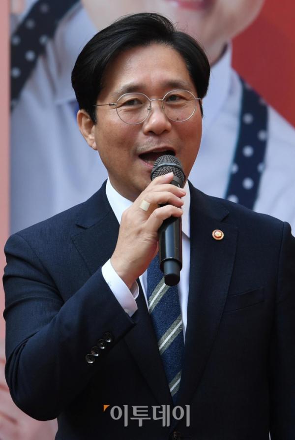▲성윤모 산업통상자원부 장관  (신태현 기자)