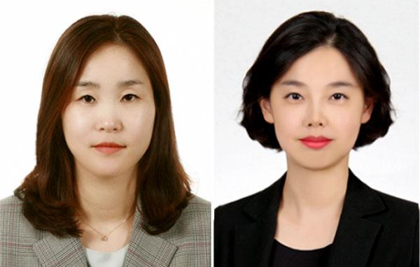 ▲사진 왼쪽부터 LG생활건강 임이란 상무, 심미진 상무.
