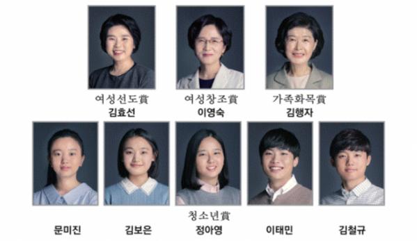 ▲'2019 삼성행복대상' 수상자들  (사진제공=삼성생명공익재단)