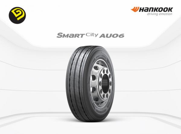 ▲한국타이어앤테크놀로지의 전기버스 전용 타이어 '스마트시티 AU06(Smart City AU06)'가 '2019 굿디자인 어워드'에서 '한국디자인진흥원장상(Bronze)'을 받았다.  (사진제공=한국타이어)