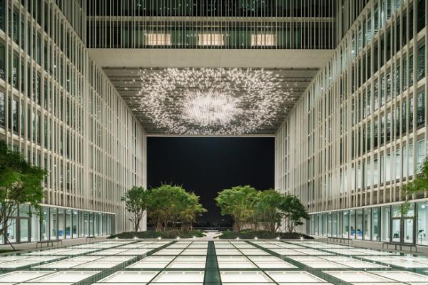 ▲모레퍼시픽 신사옥의 옥상정원 '가든즈' 5층 전경. (사진 제공=현대건설)