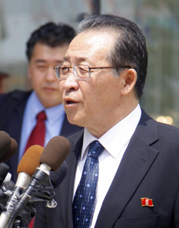 ▲김계관 북한 외무성 제1부상. (AP뉴시스)