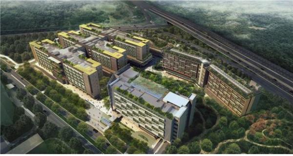 ▲쌍용건설이 싱가포르에 짓고 있는 '우드랜즈 헬스 캠퍼스(WHC)' 조감도.(자료 제공=쌍용건설)