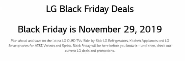 ▲LG전자가 글로벌 홈페이지를 통해 블랙프라이데이 세일을 알리고 있다. (출처:LG전자 글로벌 홈페이지 캡쳐)
