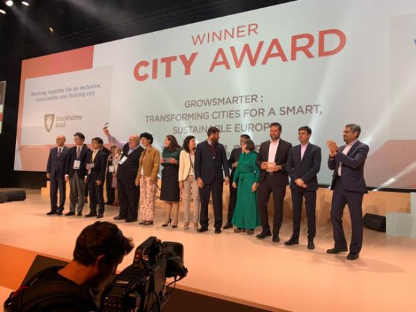 ▲서울시가 바르셀로나의 2019 스마트시티 엑스포 월드 콩그레스에서 도시 분야 '본상'을 수상했다. (사진 = 서울시)