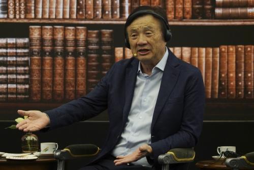▲런정페이 화웨이 설립자 및 최고경영자(CEO). AP연합뉴스