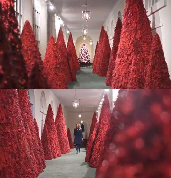 ▲지난해 백악관 크리스마스 트리. (출처=백악관 홈페이지)