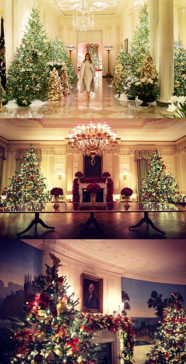 ▲2019 백악관 크리스마스 트리 (출처=멜라니아 트럼프 트위터)