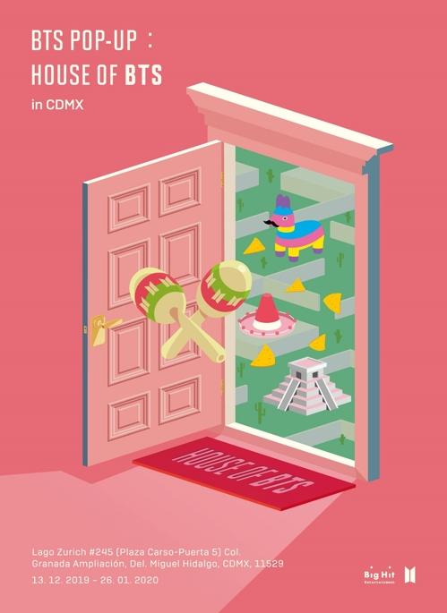 ▲멕시코시티 방탄소년단 팝업스토어 포스터. (출처=빅히트엔터테인먼트)