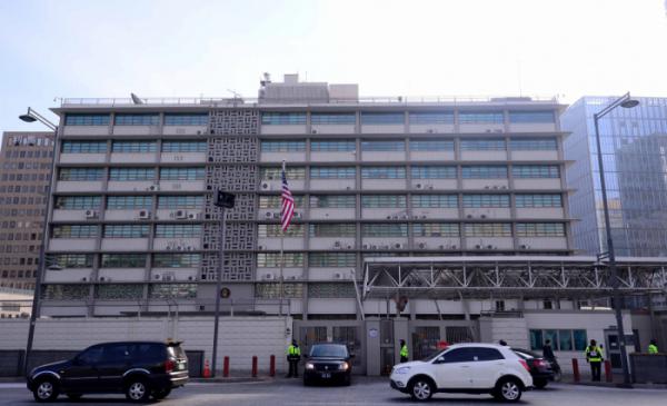 ▲현 광화문 주한 미국 대사관 전경. (뉴시스)