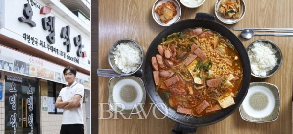 ▲Third owner of Odeng Restaurant, Kim Min-woo and representative menu, Dining Table of Sausage Stew.(오병돈 프리랜서 obdlife@gmail.com)