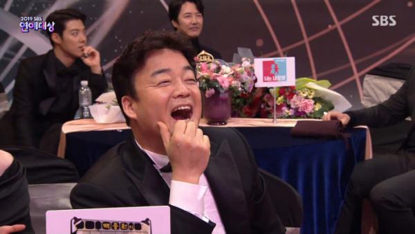 ▲백종원 청하(사진='2019 SBS 연예대상' 방송화면 캡처)