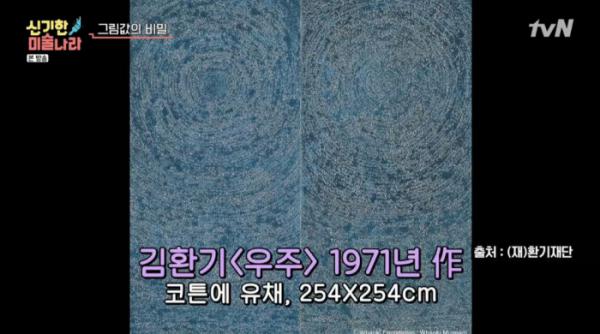 ▲'신기한 미술나라' 김환기 화백(사진=tvN '금요일금요일밤에' 방송화면 캡처)