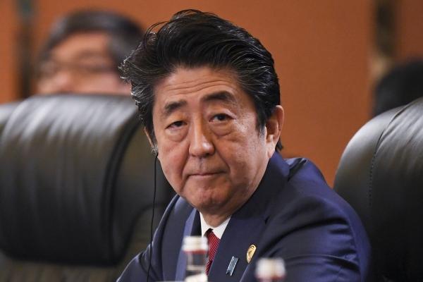 ▲아베 신조 일본 총리.   (청두/AP뉴시스 )