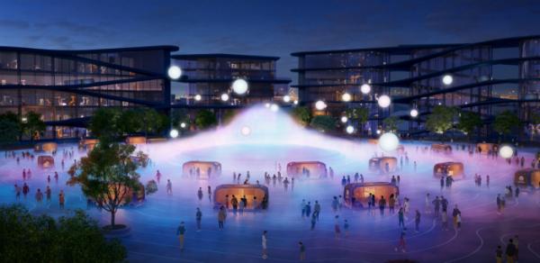 ▲일본 토요타는 인공지능과 사물인터넷을 실증하기 위한 인공도시 구축을 공언했다. 사진은 후지산 인근에 세워질, 인구 약 2000명 수준의 우븐시티 예상도.  (출처=미디어 토요타)